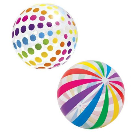 Надувной мяч пляжный Разноцветные Полоски 59065 INTEX