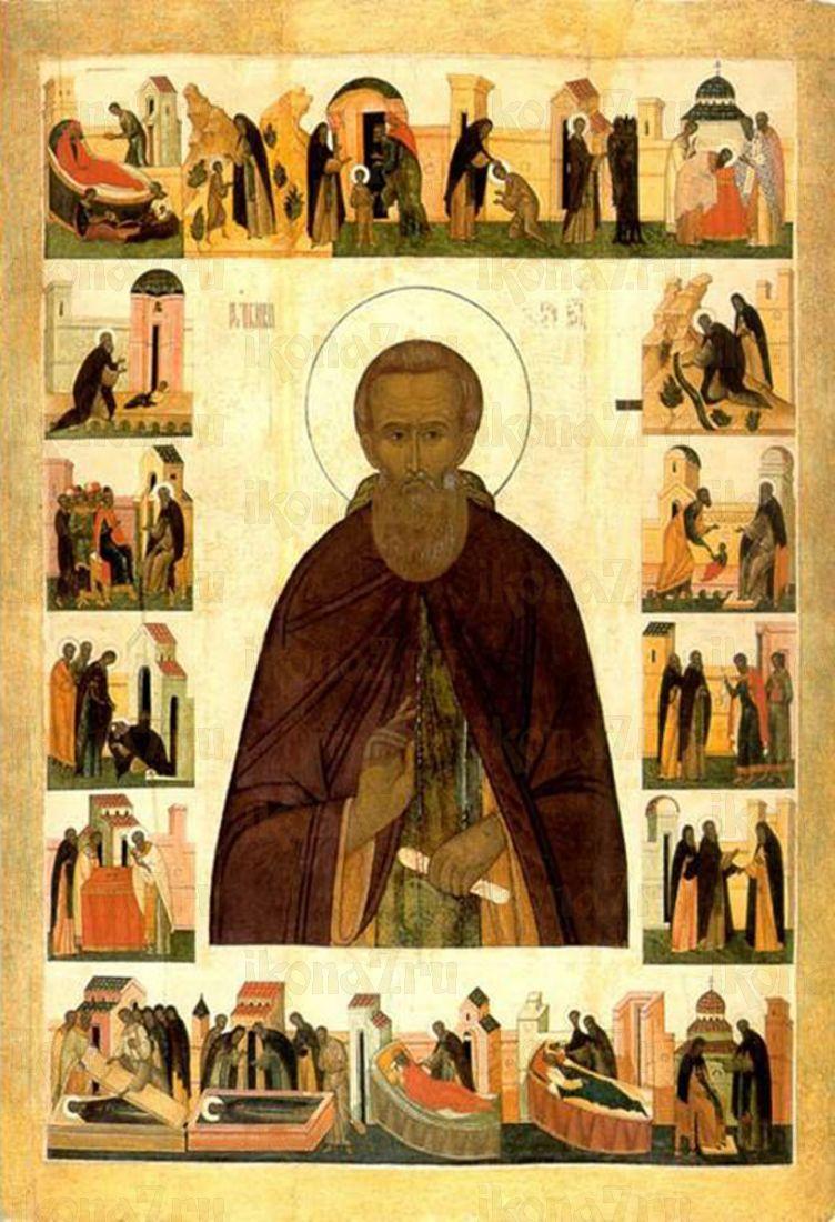 Икона Сергий Радонежский (16 век)