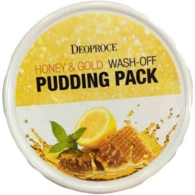 DEOPROCE Маска для лица с медом и золотом DEOPROCE HONEY&GOLD WASH-OFF PUDDING PACK 110гр