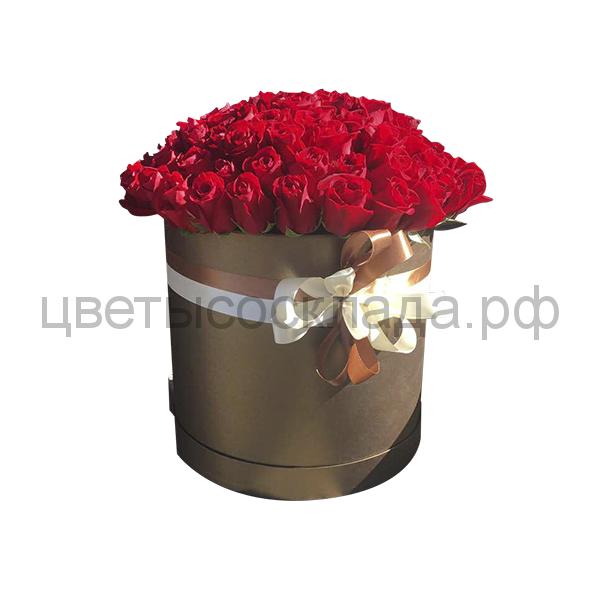 101 роза Эквадор в шляпной коробке