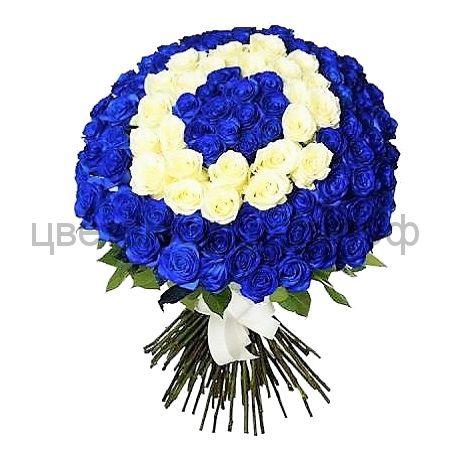 Букет из 101 розы MIX