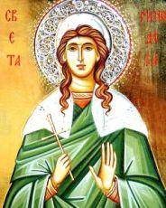 Минодора Вифинская (икона на дереве)