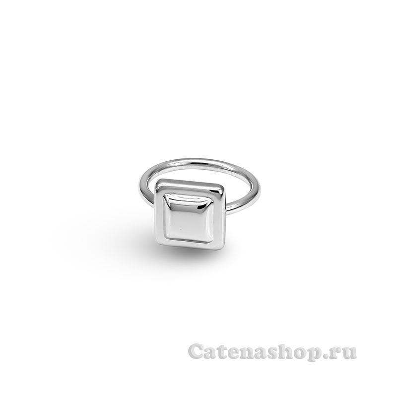 "Кольцо серебряное ""Кубик"""