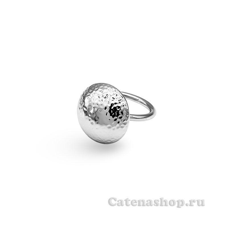 """Кольцо серебряное """"Матовая пуговка"""""""