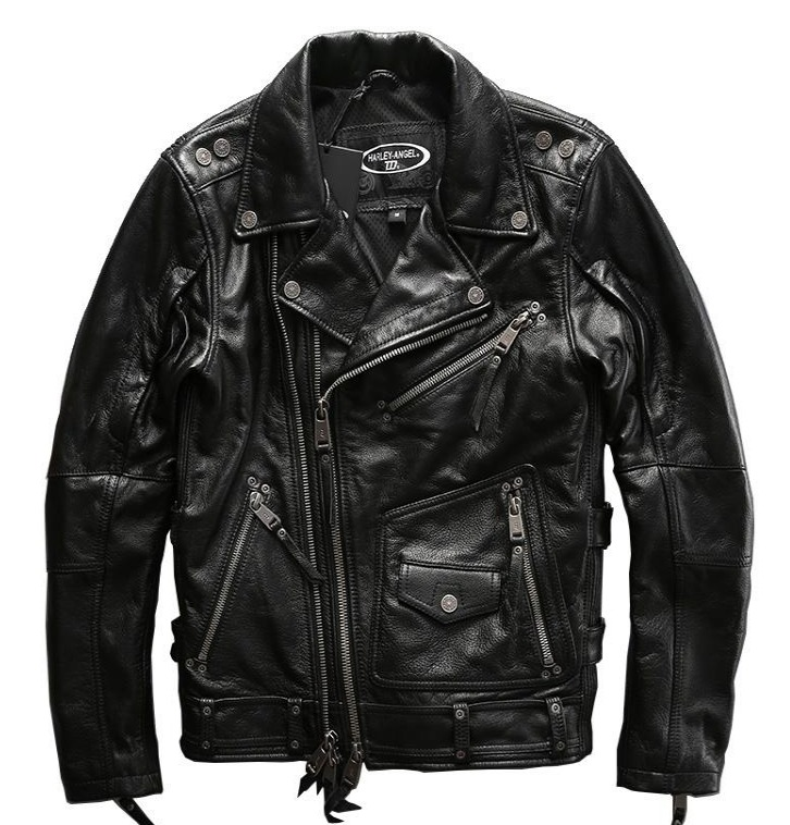 Мотокуртка Harley Davidson косуха кожаная Harley Angel HA-101