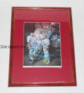 Автографы: экипажа «Аполлон-8» - Джеймс Ловелл, Уильям Андерс, Фрэнк Борман. Редкость