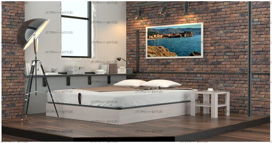 Кровать с подъемным механизмом Куб МЛПД DreamLine