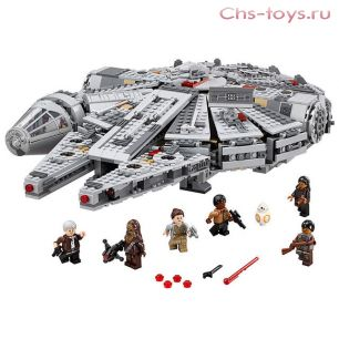 Конструктор LION KING Star Plan Сокол Тысячелетия 180006 (Аналог LEGO Star Wars 75105) 1380 дет
