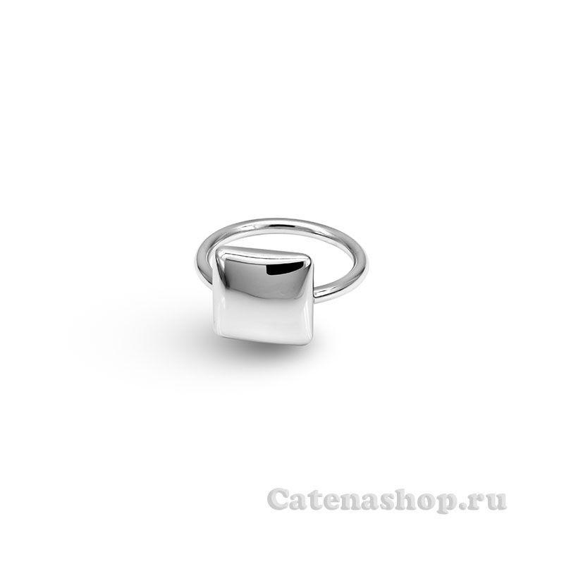 """Кольцо серебряное """"Кубик выпуклый"""""""