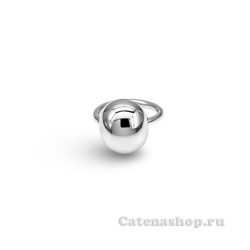 "Кольцо серебряное ""Гладкий овал"""