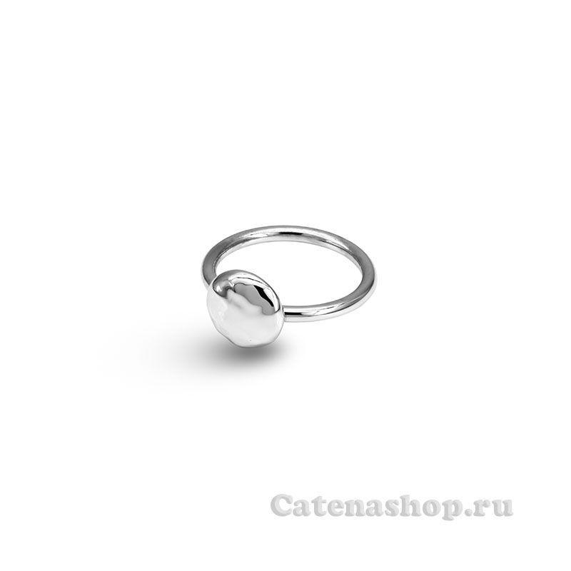 """Серебряное кольцо """"Круг с неровностями"""""""