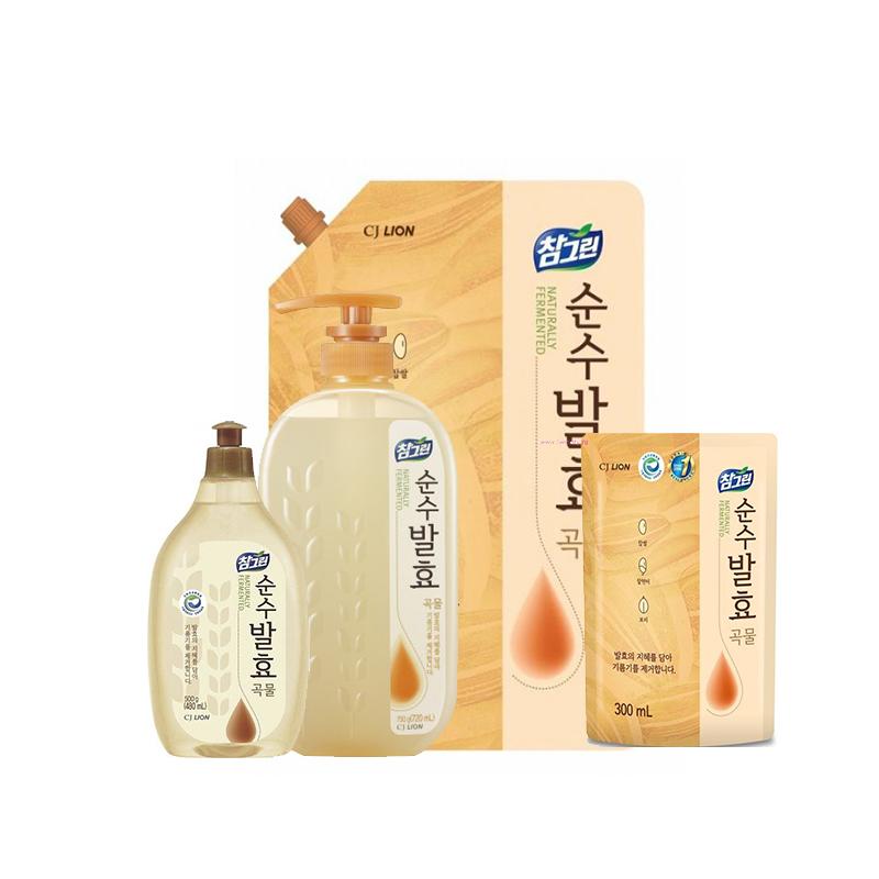 Средство для мытья посуды CJ Lion Chamgreen Pure Fermentation 5 злаков