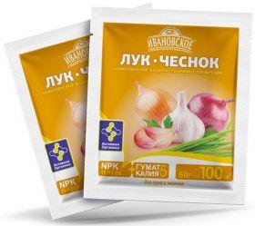 Удобрение Фермерское Хозяйство Ивановское «Лук. Чеснок» комплексное, 50 гр