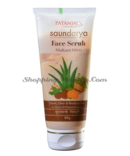 Скраб для лица с лечебной глиной Патанджали Аюрведа | Divya Patanjali Multani Mitti Face Scrub