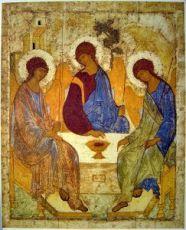 Икона Троица (копия иконы Рублева)