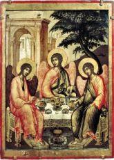 Икона Троица Живоначальная (копия иконы Ушакова)