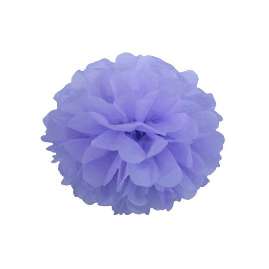 Помпон лиловый 30-35 см