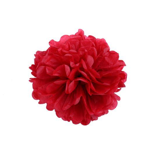 Помпон красный 30-35 см