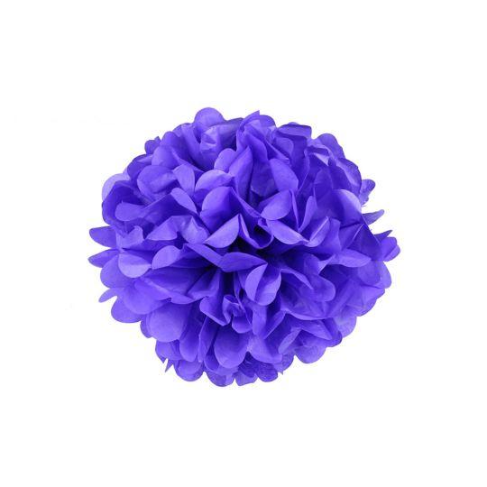 Помпон фиолетовый 30-35 см