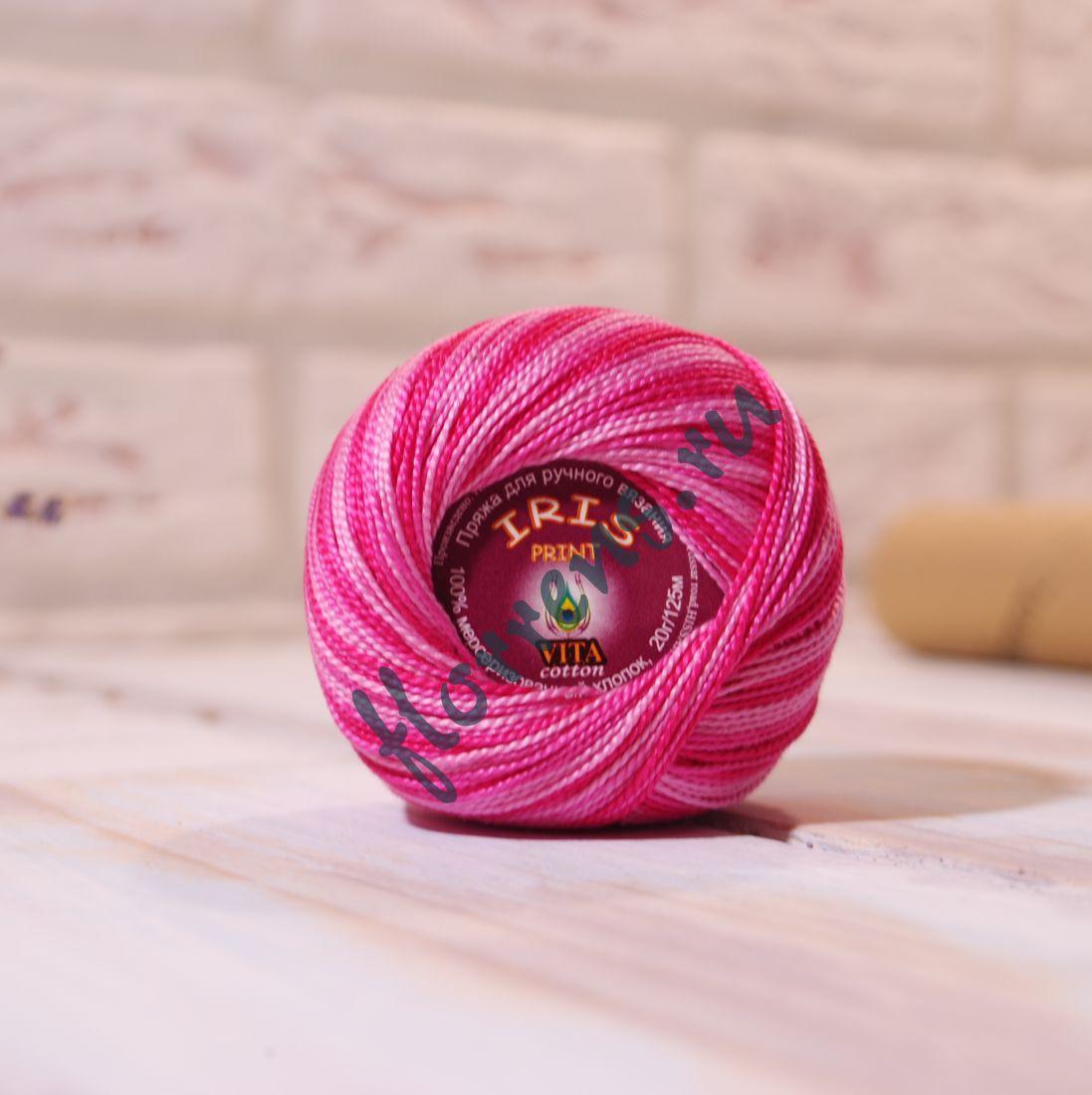 Пряжа Iris print / 2206 розовый меланж