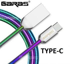 GARAS металлический кабель для зарядки TYPE-C 1m.