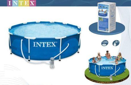 Каркасный бассейн Intex 28202 (56999). Сборный Metal Frame 305 x 76 см