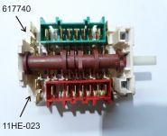 11HЕ-023 Семипозиционный переключатель для нагревательных элементов в духовки и дух. шкафы «GORENJE»