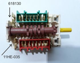 11HЕ-035 Семипозиционный переключатель для нагревательных элементов в духовки и духовочный шкафы «GORENJE»