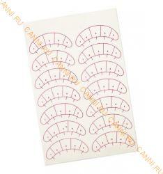 Патчи для наращивания ресниц с разметкой (1 лист)