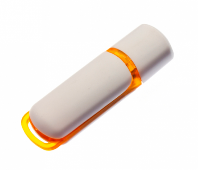 16GB USB3.0-флэш накопитель UsbSouvenir 235, белая-оранжевая