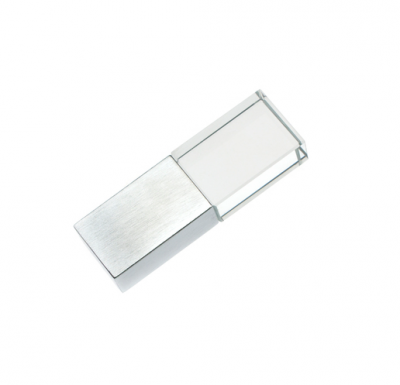 8GB USB-флэш накопитель Apexto UG-001 стеклянный, зеленый LED