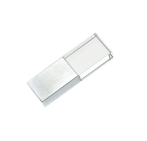16GB USB-флэш накопитель Apexto UG-001 стеклянный, зеленый LED