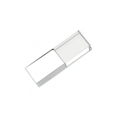 16GB USB-флэш накопитель Apexto UG-002 стеклянный, глянцевый метал, оранжевый LED