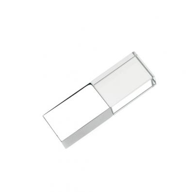 32GB USB-флэш накопитель Apexto UG-002 стеклянный, глянцевый метал, синий LED