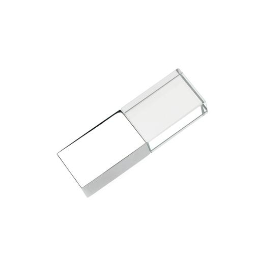 32GB USB-флэш накопитель Apexto UG-002 стеклянный, глянцевый метал, многоцвет LED