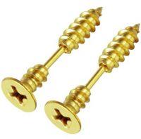 Серьги-шурупы золотого цвета