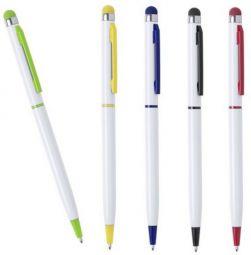 белые ручки со стилусом с цветными деталями