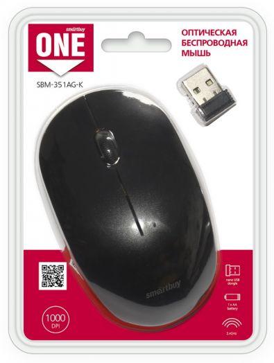 Мышь беспроводная Smartbuy ONE 351 черная