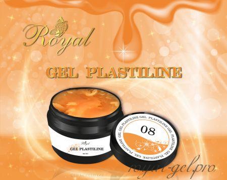 PL08  Royal гель пластилин (оранжевый) 5 мл.