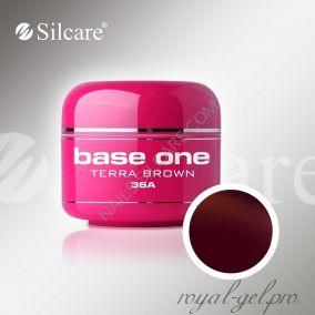 Цветной гель Silcare Base One Color Terra Brown *36A 5 гр.