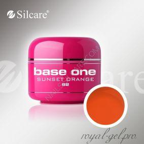 Цветной гель Silcare Base One Color Sunset Orange *82 5 гр.