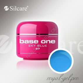 Цветной гель Silcare Base One Color Sky Blue *27 5 гр.