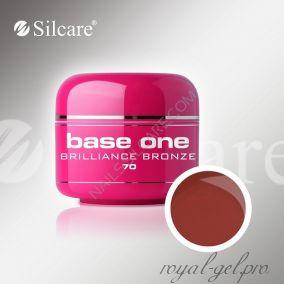 Цветной гель Silcare Base One Color Brilliance Bronze *70 5 гр.