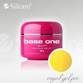 Цветной гель Silcare Base One Matt Banana Split *01 5 гр.