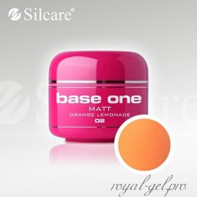 Цветной гель Silcare Base One Matt Orange Lemonade *02 5 гр.