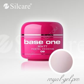 Цветной гель Silcare Base One Matt Pastel Wedding *09 5 гр.