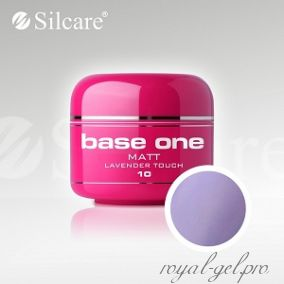 Цветной гель Silcare Base One Matt Lavender Touch *10 5 гр.