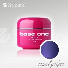 Цветной гель Silcare Base One Matt Violet Dream *11 5 гр.