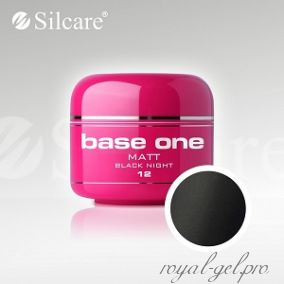 Цветной гель Silcare Base One Matt Black Night *12 5 гр.
