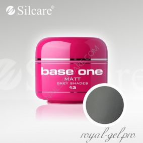 Цветной гель Silcare Base One Matt Grey Shades *13 5 гр.